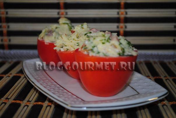 рецепт фаршированых помидоров