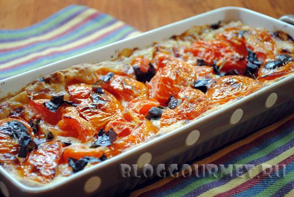 Тарт с томатами и базиликом
