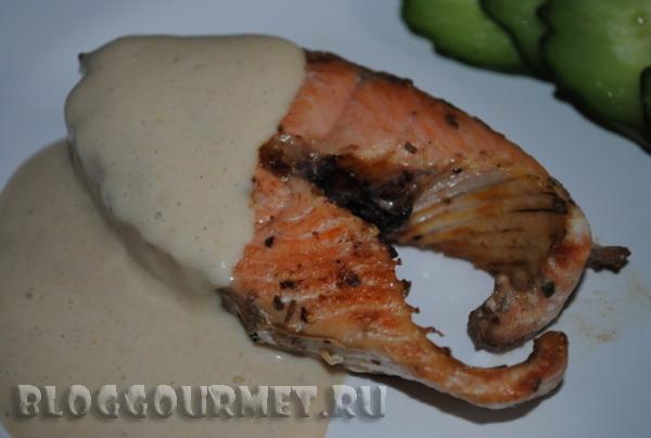 рыба с горчичным соусом