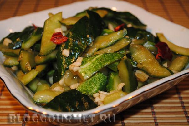 Салат из огурцов по китайски рецепт с пошагово