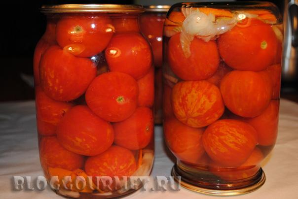 консервировнные помидоры