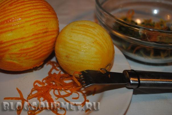 паста с белым соусом и гремолатой