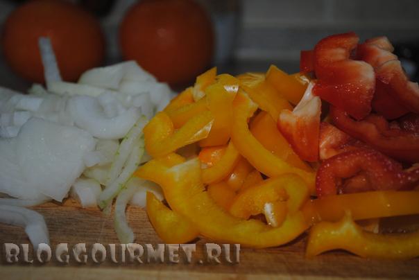 Свинина с перцами в апельсиновом соке
