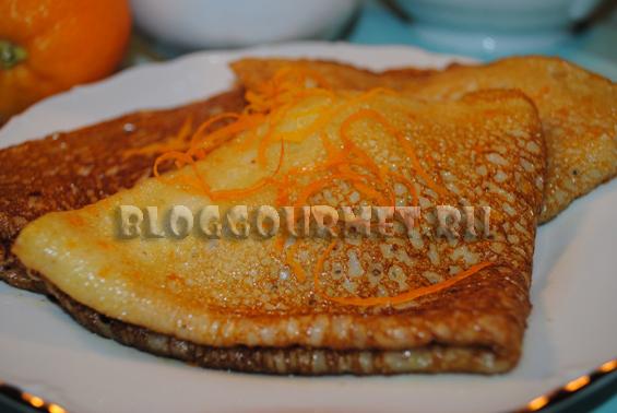 блинчики в апельсиновой карамели