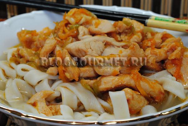лапша с курицей по-китайски