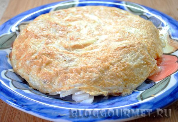 По мотивам испанской тортильи – омлета с картошкой