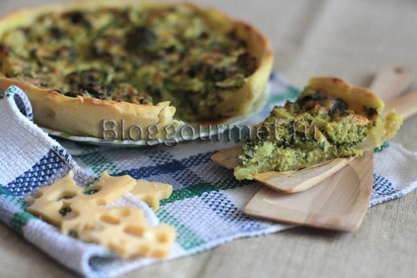 Пирог с брокколи с сыром