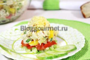 Слоеные овощные салаты рецепты с простые и вкусные