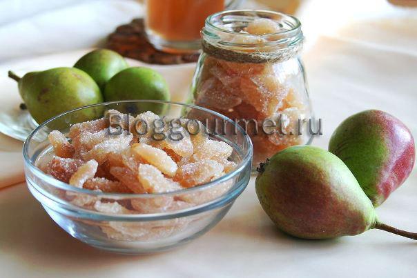Вкусные цукаты из груш