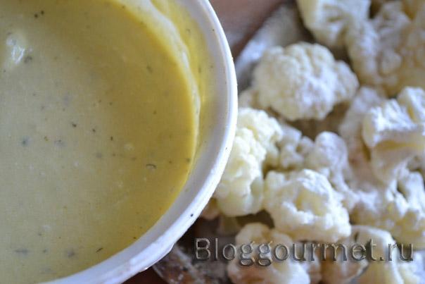 Соус к цветной капусте в кляре пошаговый рецепт