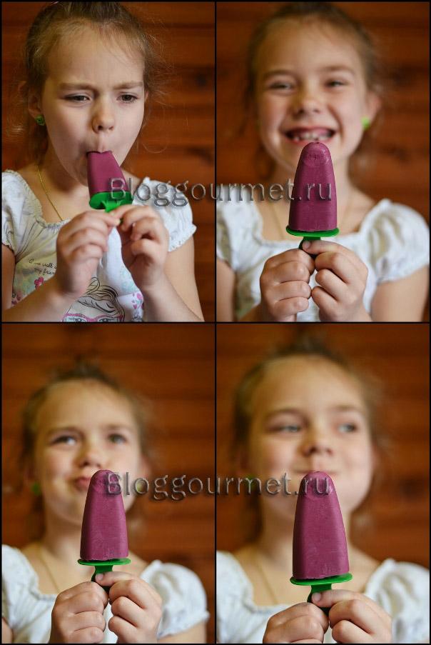 Домашнее мороженое из творога и черники