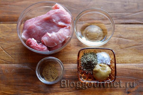 рецепт маринада для свинины в фольге в духовке