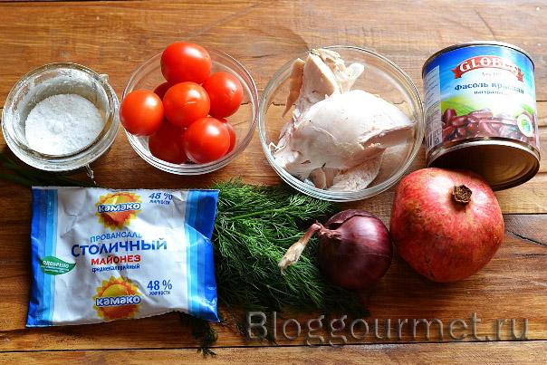 салат с гранатом рецепт с фото очень вкусный рецепт