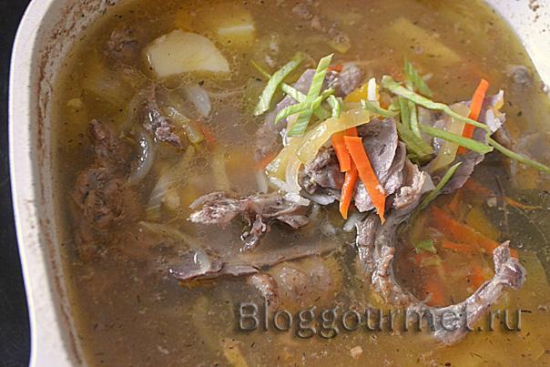 Суп из утки с рисом