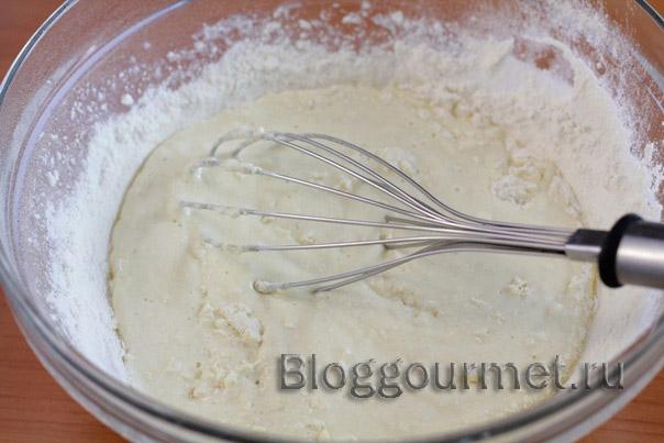 Тесто для пирожков (на твороге и кефире) 03