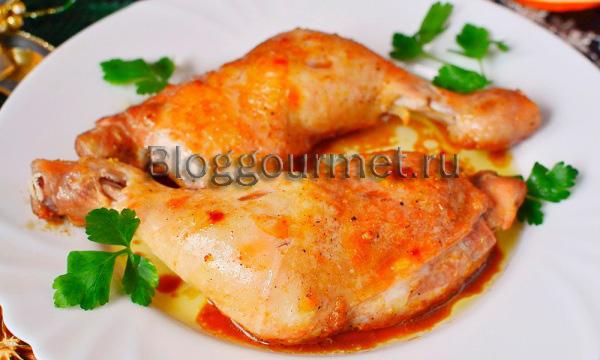 жареные куриные окорочка в духовке рецепты