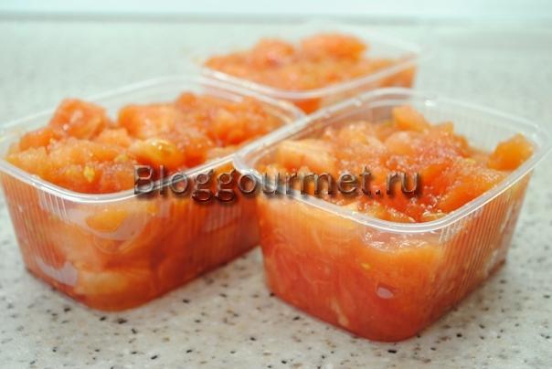 Заморозка томатов на зиму