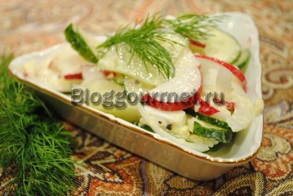 салаты рецепты с фото простые и вкусные огурец
