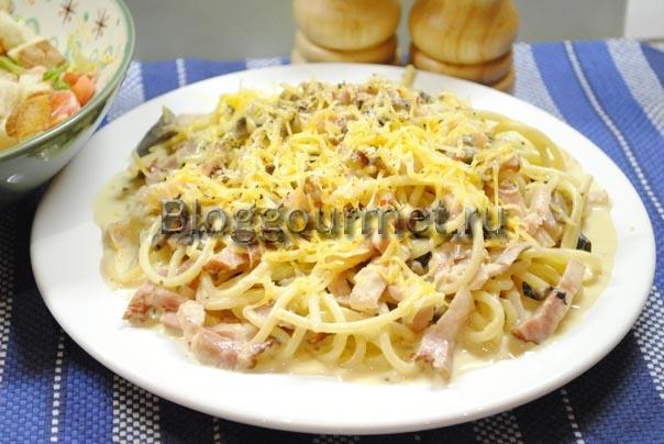 сливочный соус для макарон с грибами