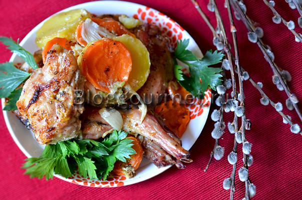 кролик с картошкой в духовке рецепт с фото