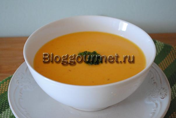 рецепт тыквенный суп пюре со сливками