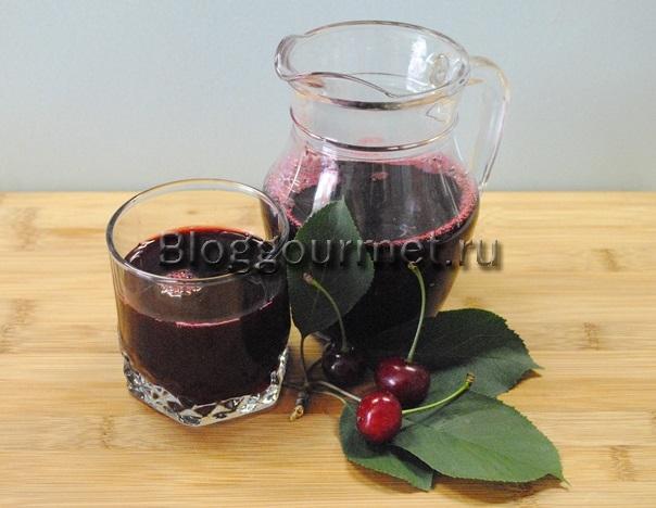 Вишневый сок на зиму в домашних условиях