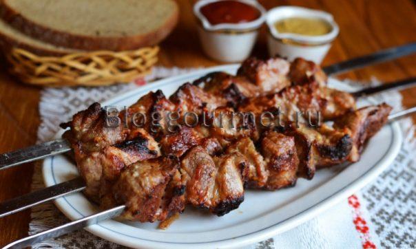 Шашлык из свинины в горчичном маринаде