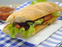 бутерброды с колбасками