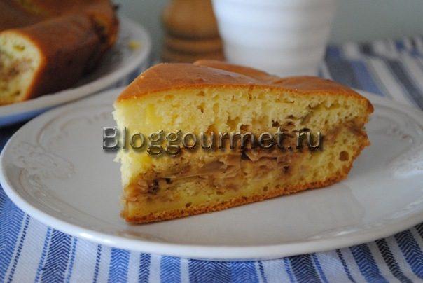 заливной пирог с капустой рецепт с фото