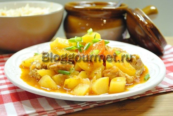свинина в горшочках с картошкой в духовке пошаговый рецепт