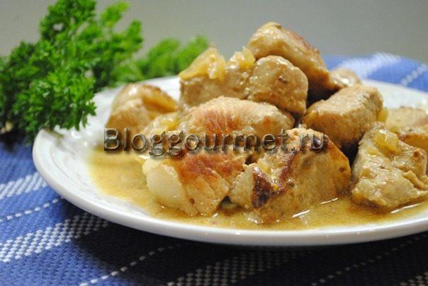 свинина в горчичном соусе