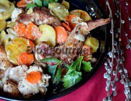 как приготовить кролика с картошкой в духовке