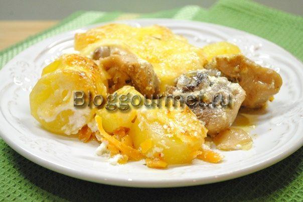 запеканка с курицей и картошкой в духовке рецепт с фото