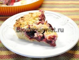 сливовый пирог рецепт с фото пошагово