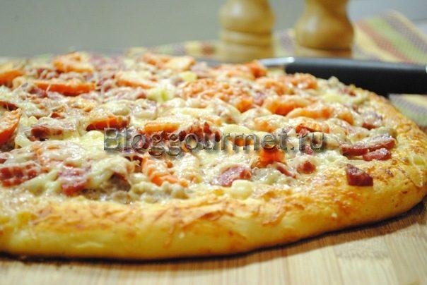Рецепт пиццы в домашних условиях в духовке без помидоров 54