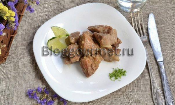 Мясо маринованное с лаймом