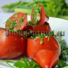 Сухая засолка помидоров с укропом