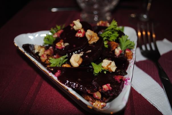 маринованая свекла с грецким орехом