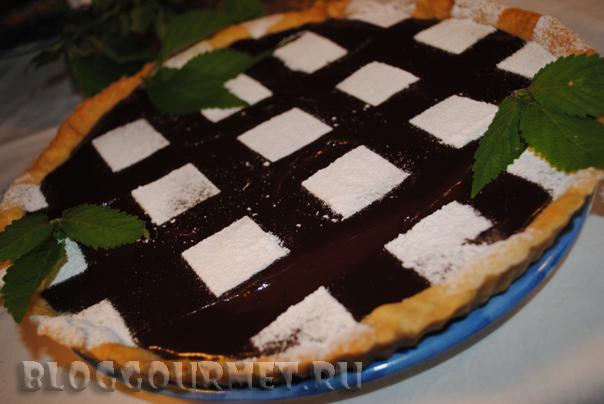 шоколадно-мятный тарт