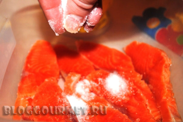 Красная рыба соленая
