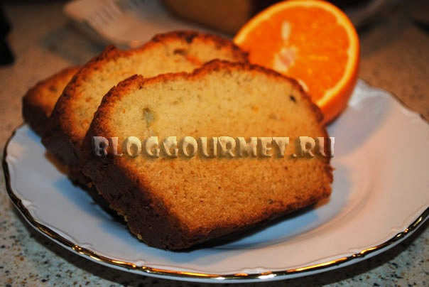 Пряный апельсиновый кекс