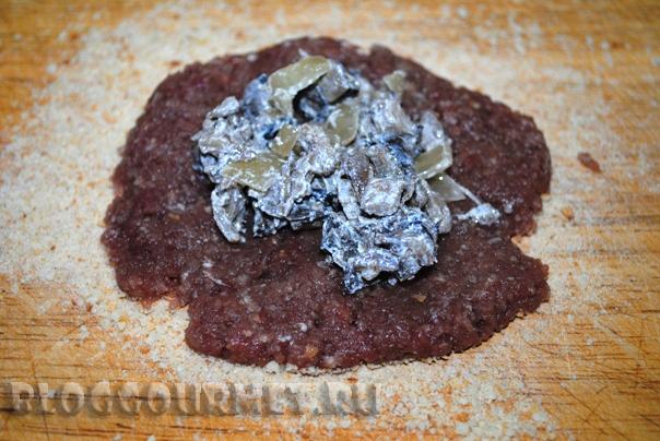 мясные зразы с грибами