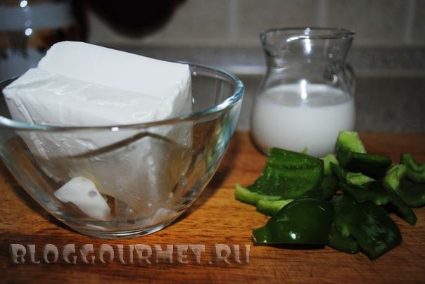 кабачковые оладьи с дипом из сыра фета