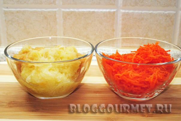 Простые морковно-яблочные кексы с корицей