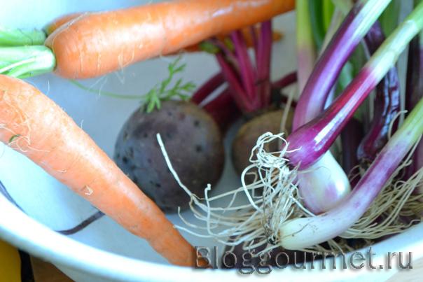 Запеченные молодые овощи