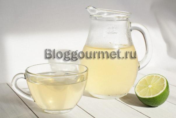 Холодный чай с лаймом