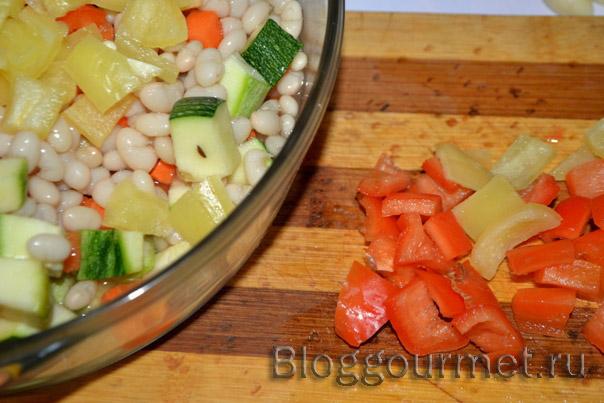 Фасоль с овощами – кулинарный рецепт