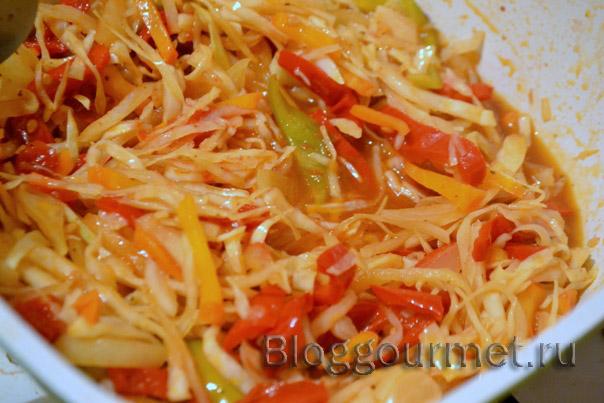 Пряный салат из капусты на зиму
