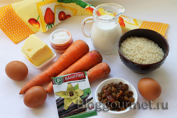 Запеканка из риса с морковью