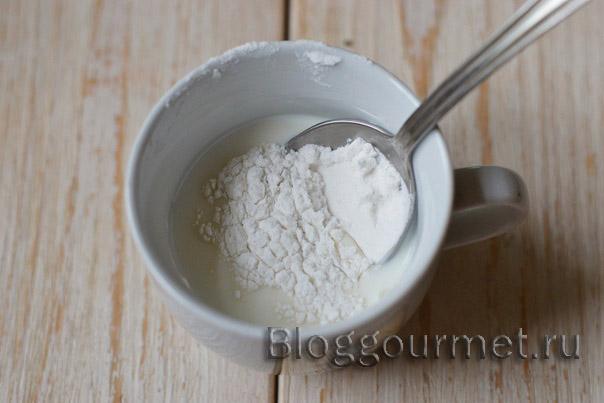 Молочный пудинг с мятой